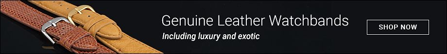 Genuine Leather Watchbands | Including luxury and exotic