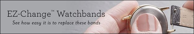 EZ-Change Watchbands | See how easy it is to replace these bands