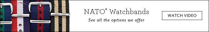 NATO Watchbands - See all the options we offer | Watch Now